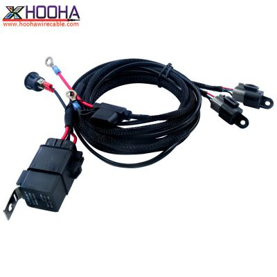 custom wire harness,Automotive Wire Harness,LED light wire harness,ON-OFF Switch,OFF-Road,Deutsch Connector Wiring